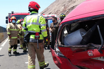 350 1 accidente alto Hospicio